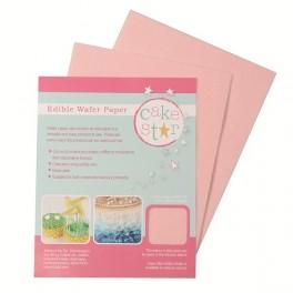 Růžový jedlý papír 12ks