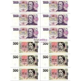 Bankovky male jedlý papír