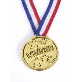 Zlatá medaile s nápisem Winner