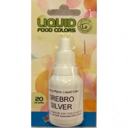 Airbrush perleťová barva tekutá Silver 20 ml
