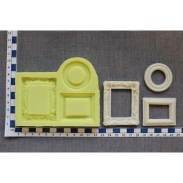 Rámečky 3ks - OB silikonová forma